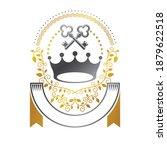 royal crown emblem. heraldic... | Shutterstock .eps vector #1879622518
