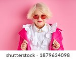 Fancy Aged Lady In Eyeglasses...
