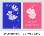new year greeting template... | Shutterstock .eps vector #1879634242