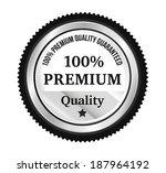 silver premium quality badge   Shutterstock .eps vector #187964192