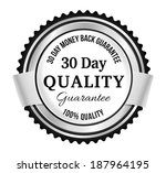 silver premium quality badge | Shutterstock .eps vector #187964195
