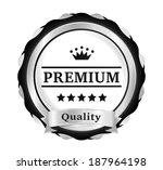 silver premium quality badge | Shutterstock .eps vector #187964198