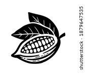 cocoa beans sketch. vector icon ... | Shutterstock .eps vector #1879647535