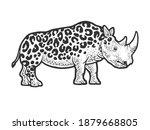 fictional animal rhinoceros... | Shutterstock . vector #1879668805
