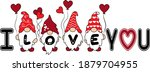 i love you valentines day gnome | Shutterstock .eps vector #1879704955
