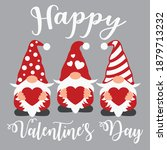 happy valentine's day vector... | Shutterstock .eps vector #1879713232