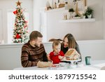 Happy Family Decorating A...