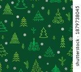 christmas tree snow winter... | Shutterstock .eps vector #1879738045