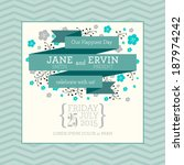 vector wedding invitation card... | Shutterstock .eps vector #187974242