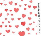 hearts vector icon seamless...   Shutterstock .eps vector #1879799575