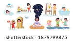 collection of childhood... | Shutterstock .eps vector #1879799875