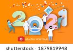 2021 new year design card with... | Shutterstock .eps vector #1879819948