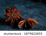 two pieces of star anise on... | Shutterstock . vector #1879822855