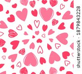cute valentine's day card with... | Shutterstock .eps vector #1879843228