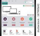 flat web design elements....