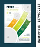 flyer cover stripes and circles ... | Shutterstock .eps vector #1879872115