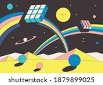 abstract space psychedelic... | Shutterstock .eps vector #1879899025