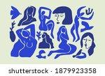 set of abstract blue women... | Shutterstock .eps vector #1879923358