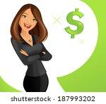 smart lady | Shutterstock .eps vector #187993202