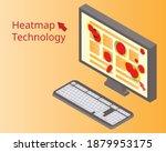 heatmap webpage shows user... | Shutterstock .eps vector #1879953175