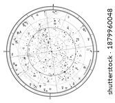 astrological celestial map of...   Shutterstock .eps vector #1879960048