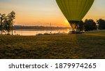 hot air balloon launch at... | Shutterstock . vector #1879974265