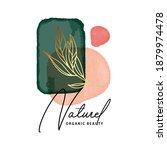 watercolor emerald green... | Shutterstock .eps vector #1879974478