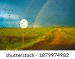 blurred rainbow view through... | Shutterstock . vector #1879974982