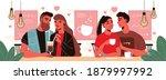 valentine day love composition... | Shutterstock .eps vector #1879997992