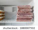 Many Vacuum Sealed Frozen Meat...