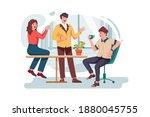 office people gossip in company ... | Shutterstock .eps vector #1880045755