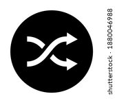 shuffle flat vector icon...
