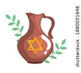 Teapot With Jewish Golden Star...
