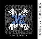 core denim design typography  ... | Shutterstock .eps vector #1880078035