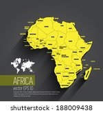 africa map  vector | Shutterstock .eps vector #188009438