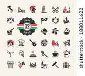 travel   web icon set.... | Shutterstock .eps vector #188011622