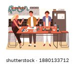 group of friends or family... | Shutterstock .eps vector #1880133712