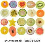 background from many different... | Shutterstock . vector #188014205