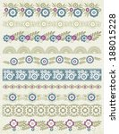 set of lace paper with flower ... | Shutterstock .eps vector #188015228