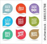 collection of super sale...   Shutterstock . vector #1880153788