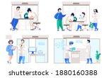 set of illustrations on the...   Shutterstock .eps vector #1880160388