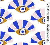 evil eyes seamless pattern in... | Shutterstock .eps vector #1880163175