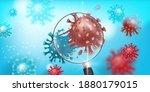 coronavirus mutation vector...   Shutterstock .eps vector #1880179015