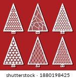 christmas trees for laser... | Shutterstock .eps vector #1880198425