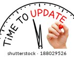 hand writing time to update... | Shutterstock . vector #188029526