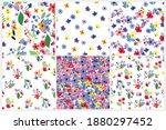 seamless pattern set. vector... | Shutterstock .eps vector #1880297452