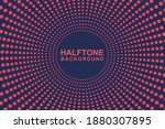 halftone pink and blue comic... | Shutterstock .eps vector #1880307895