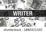 Writer Text Concept Closeup....