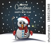 merry christmas and happy new...   Shutterstock .eps vector #1880312848