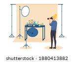 female photographer on set... | Shutterstock .eps vector #1880413882